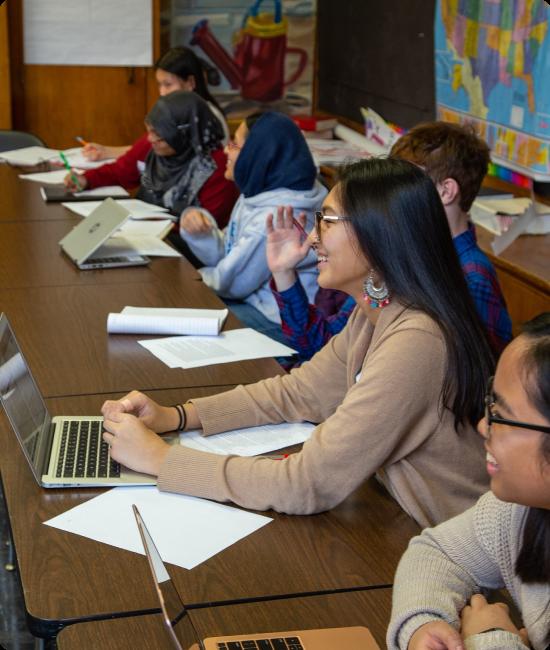 Students in Bard Manhattan High School Classroom
