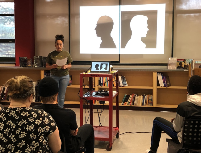 Nina Davis, Class of 2019 presenting at research symposium